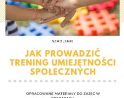 Szkolenie: Jak prowadzić trening umiejętności społecznych